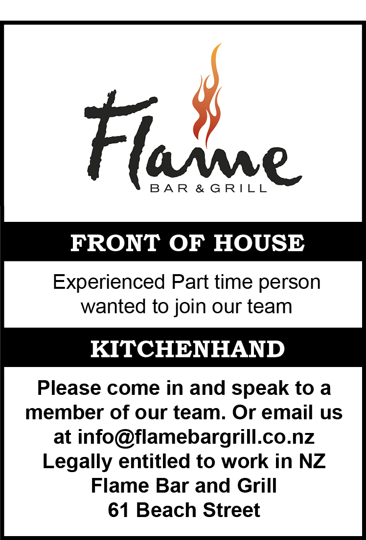 chef minimum years experience kitchen hand front of house job type